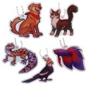 Geopets Travel Tag Collection - 5 Tags