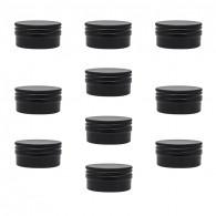 Micro Pastille aimantée Noire 3,6cm - Lot de 10