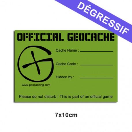 Sticker Geocache Medium