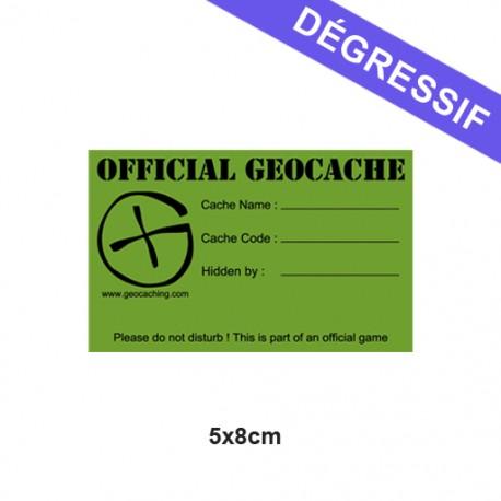 Sticker Geocache Small