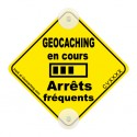 On the road! Trackable - Geocaching en cours, arrêts fréquents