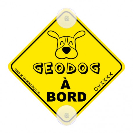 On the road! Trackable - Geodog à bord