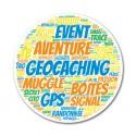 """Sticker """"Nuage de mots"""" Geocaching"""