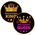 Stickers Geocaching King & Queen