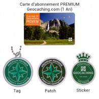 Pack PREMIUM - Carte (1 An) + Tag + Patch + Sticker