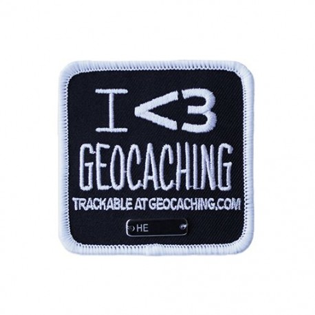 I love Geocaching Trackable Patch
