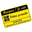 Badge Pseudo GC traçable personnalisé - JAUNE/NOIR