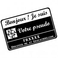 Badge Pseudo GC traçable personnalisé - NOIR/BLANC