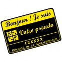 Badge Pseudo GC traçable personnalisé - NOIR/JAUNE