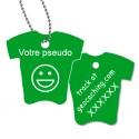 Tag T-Shirt avec votre pseudo - Vert