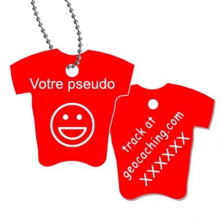 Tag T-Shirt avec votre pseudo - Rouge