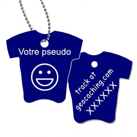 Tag T-Shirt avec votre pseudo - Bleu marine