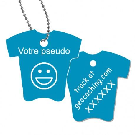 Tag T-Shirt avec votre pseudo - Bleu clair