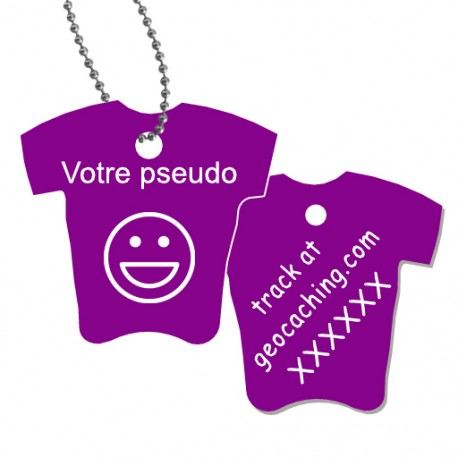 Tag T-Shirt avec votre pseudo - Violet