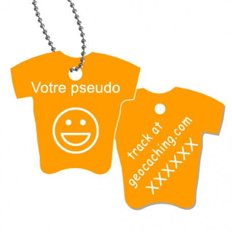 Tag T-Shirt avec votre pseudo - Orangé