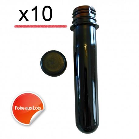 Pet Tube FTF Noir 12cm - Lot de 10