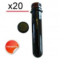 Pet Tube FTF Noir 14cm - Lot de 20