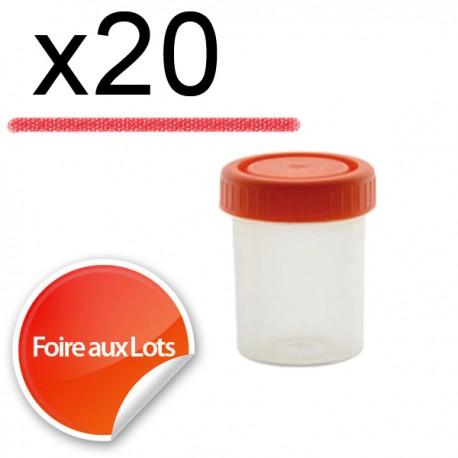 Micro Bouchon vissant 30ml - Lot de 20