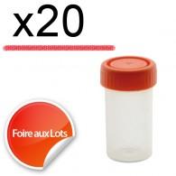 Micro Bouchon vissant 50ml - Lot de 20
