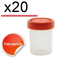 Micro Bouchon vissant 80ml - Lot de 20