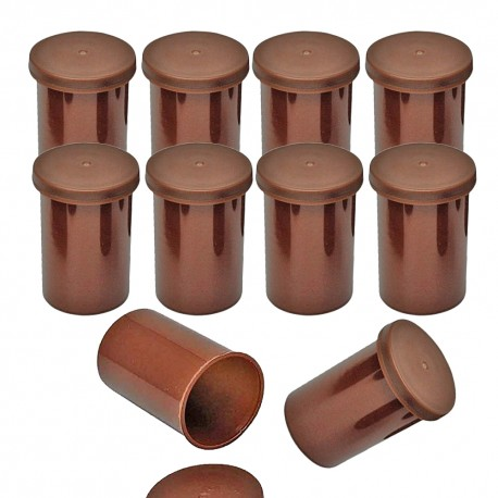 Film canister x10 - Marron