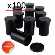 Mega Pack Film canister x100 - Noir