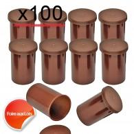 Mega Pack Film canister x100 - Marron