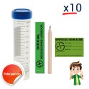 "Kit ""Prêt à poser"" Tube - Lot de 10"
