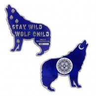 Wolf Geocoin - Blue
