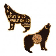 Wolf Geocoin - Black
