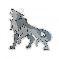 Warick the Wolf Travel Tag