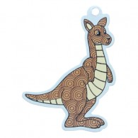 Kenny the Kangaroo Travel Tag