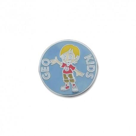 GeoKids Boy Micro Geocoin - Antique Silver