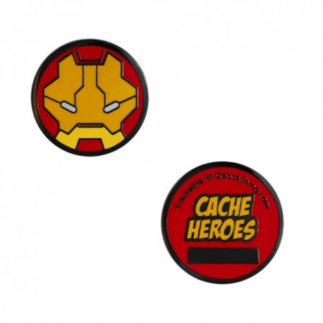 Cache Hero Micro Geocoin - Iron Man