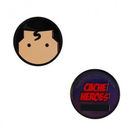 Cache Hero Micro Geocoin - Superman