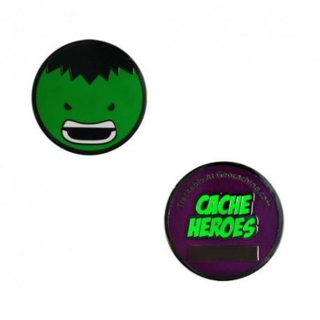 Cache Hero Micro Geocoin - Hulk