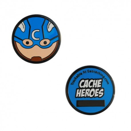 Cache Hero Micro Geocoin - Captain America