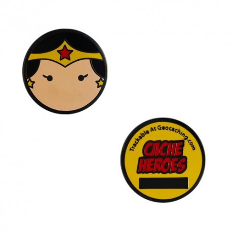 Cache Hero Micro Geocoin - Wonder Woman