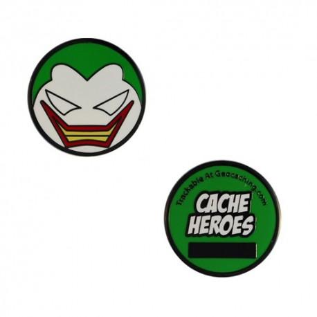 Cache Hero Micro Geocoin - The Joker