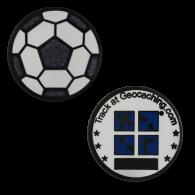 Soccer Ball Micro Geocoin - Glitter