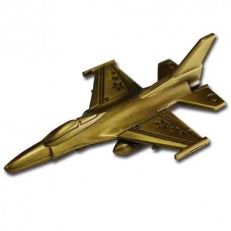 F-16 Fighting Falcon Geocoin - Antique Bronze