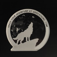 Wolf and Magic Moon crystal geocoin