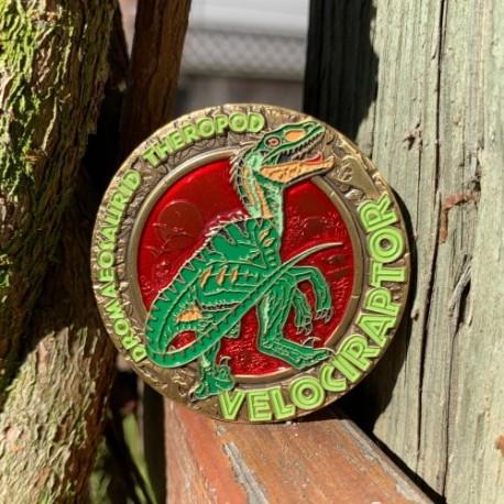 Dinosaur Series : Velociraptor Geocoin