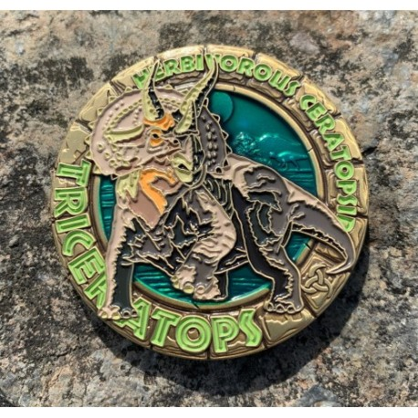 Dinosaur Series : Triceratops Geocoin