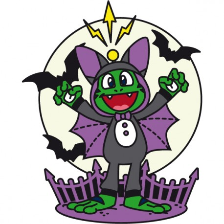 Signal the Frog™ Halloween Geocoin - Glow in the Dark (phosphorescent)