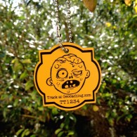 Geo Halloween Friends Travel Tag - Zombie