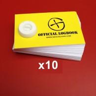 "Mini ""Official Logbook"" x10"