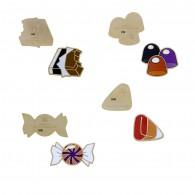 Micro Candy Geocoins Set - 4 Micro Geocoins