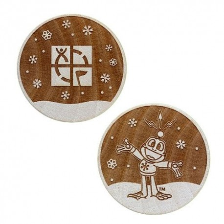 Wooden Nickel SWAG Coin - Signal in the Snow!