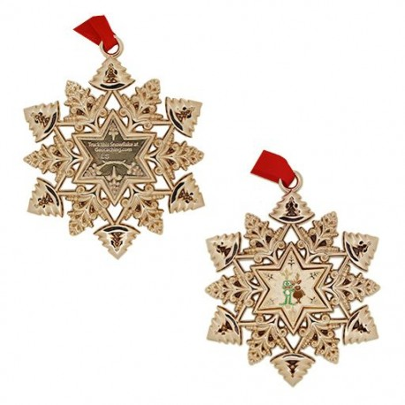 Snowflake Ornament Geocoin - Signal and a Reindeer